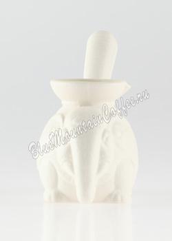 Турка (Джезва) Слон. Белая Керамика